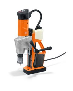 Here is a Mag drill from Fein. Known as the Fein KBM  50 Q Mag Core drill. All Rotabroach and Magdrill HSS Cutters and Mag Drill Bits fit this machine.
