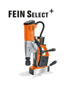 Here you see a mag drill from Fein. This is also known as the Fein AKBU 35 PMQW Select mag drill.All Rotabroach and Magdrill HSS Cutters and Mag Drill Bits fit this machine.
