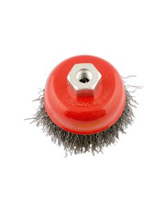 ABRACS 100MM X M14 CRIMPED WIRE CUP BRUSH STAINLESS STEEL