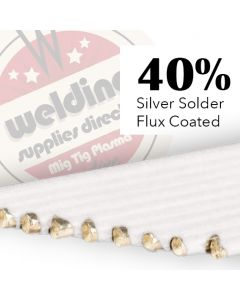 40% Silver Solder  Flux Coated 1.5mm x 500mm