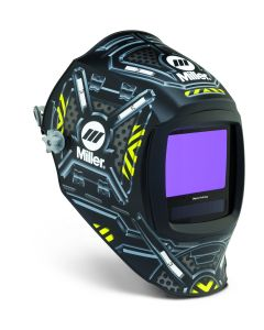 This is an image of a Miller digital infinity welding helmet - black ops