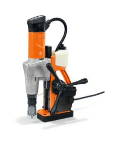 Look and see this Mag Drill from Fein. This is also known as the Fein KBM 50 Auto. All Rotabroach and Magdrill HSS Cutters and Mag Drill Bits fit this machine.