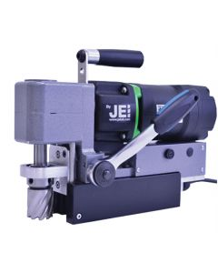 Here you see a JEI Magdrill. This Mag Drill  from JEI is also known as the JEI LP-45 Mag Drill. All Rotabroach and Magdrill HSS Cutters and Mag Drill Bits fit this machine.