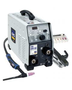 GYS TIG 200 DC TIG Welding machine with torch and earth lead